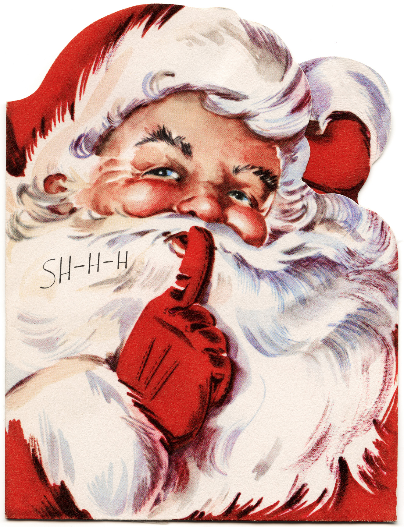 Santa clipart old fashioned #9