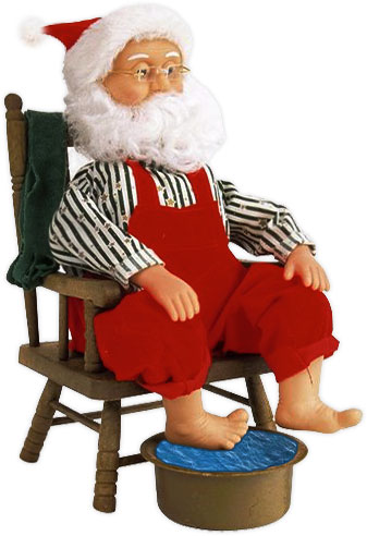 Santa clipart tired #7