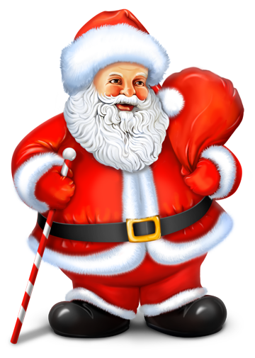 Santa clipart transparent background #6