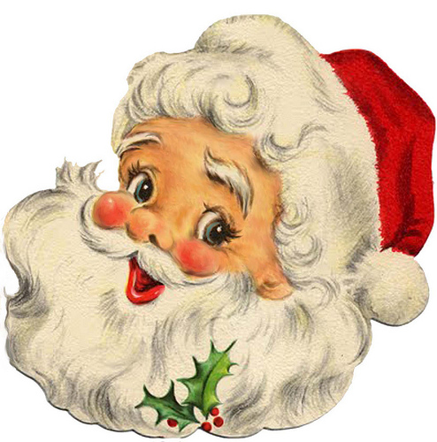 Santa clipart vintage #10