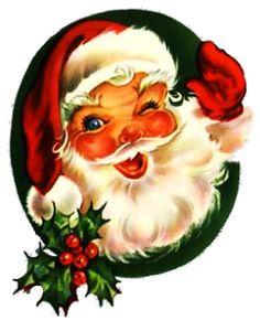 Santa clipart vintage #6