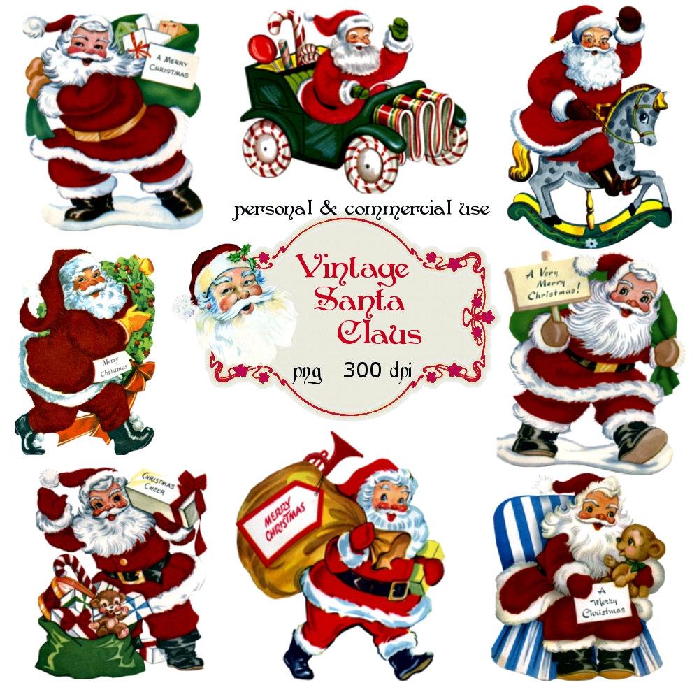 Santa clipart vintage #14