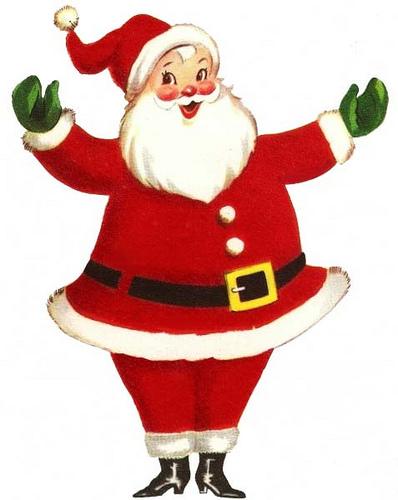 Santa clipart vintage #1