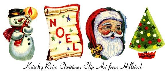 Santa clipart vintage #15