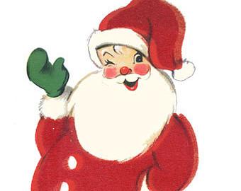 Santa clipart vintage #3