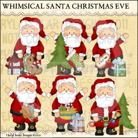 Santa clipart whimsical #10