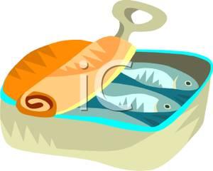 Sardine clipart Tin Sardines Can Clipart A