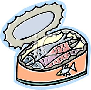 Sardine clipart Picture A Picture Can Clipart