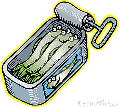 Sardine clipart Clip  Can clipart Can