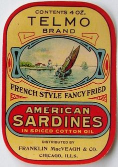 Sardine clipart food packaging #3