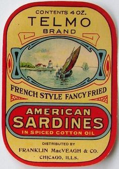 Sardine clipart packaged food #6