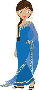 Saree clipart Clipart Beautiful A Hindu Sari