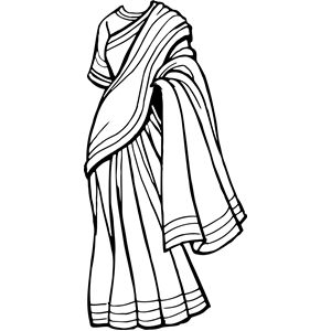 Saree clipart bengali Saree eps free (wmf
