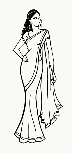 Saree clipart bengali Indian – Download Saree Clipart