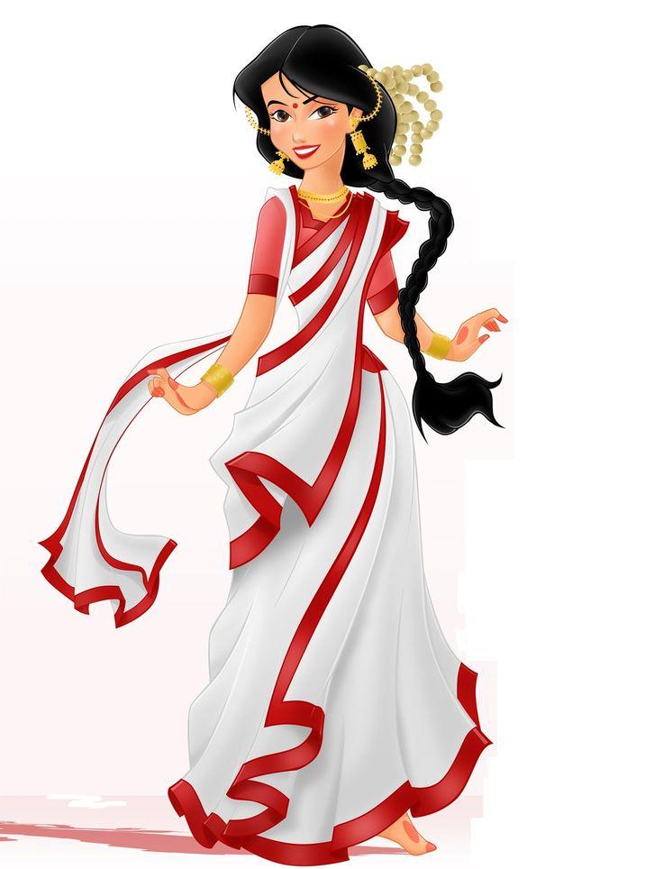 Saree clipart bengali #2