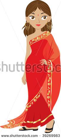 Saree clipart bengali #1