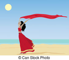 Saree clipart bengali  Clipart woman of asian