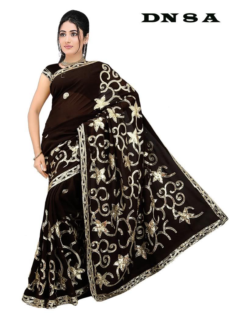 Saree clipart namaste Designer Heavy Embroidery Sequin Sari