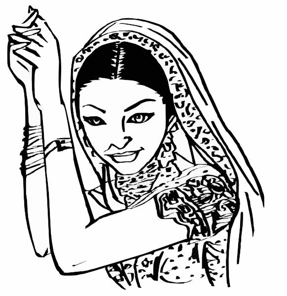 Saree clipart Clip Indianwoman Clker Clip com
