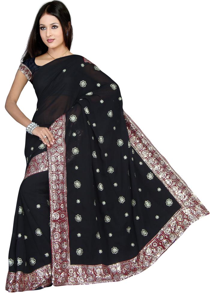 Saree clipart Sequin Embroidery NEW Sari Bollywood
