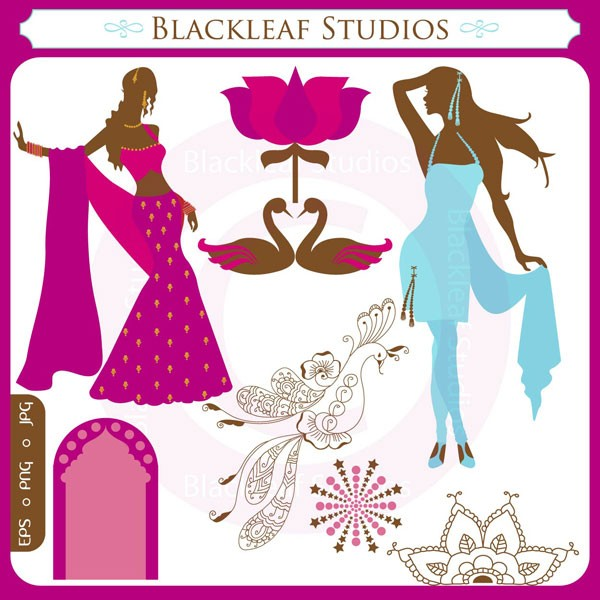 Saree clipart bollywood dancing Bollywood Download Instant Art movies