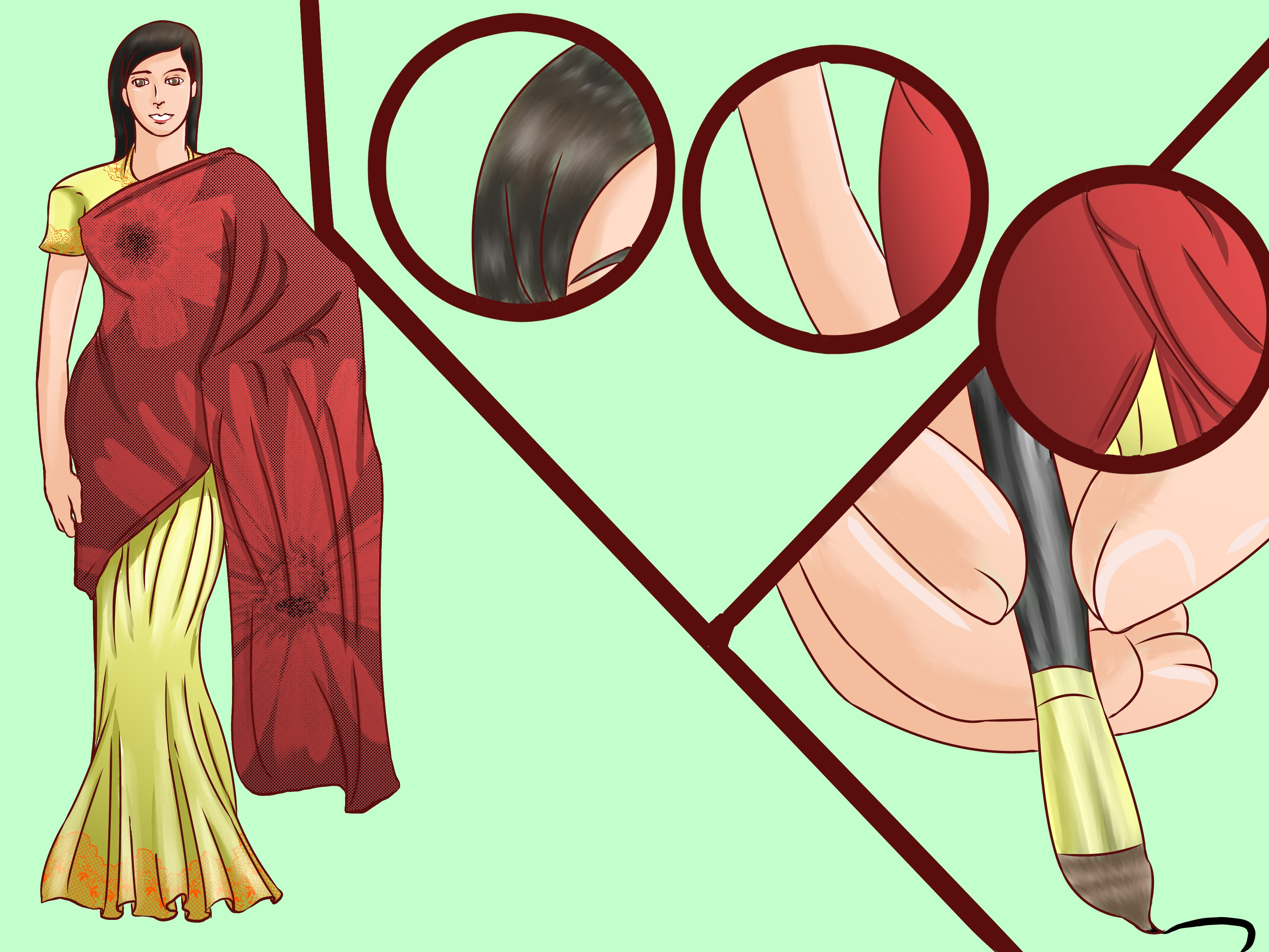 Drawn right woman in india WikiHow Pictures) Draw How to