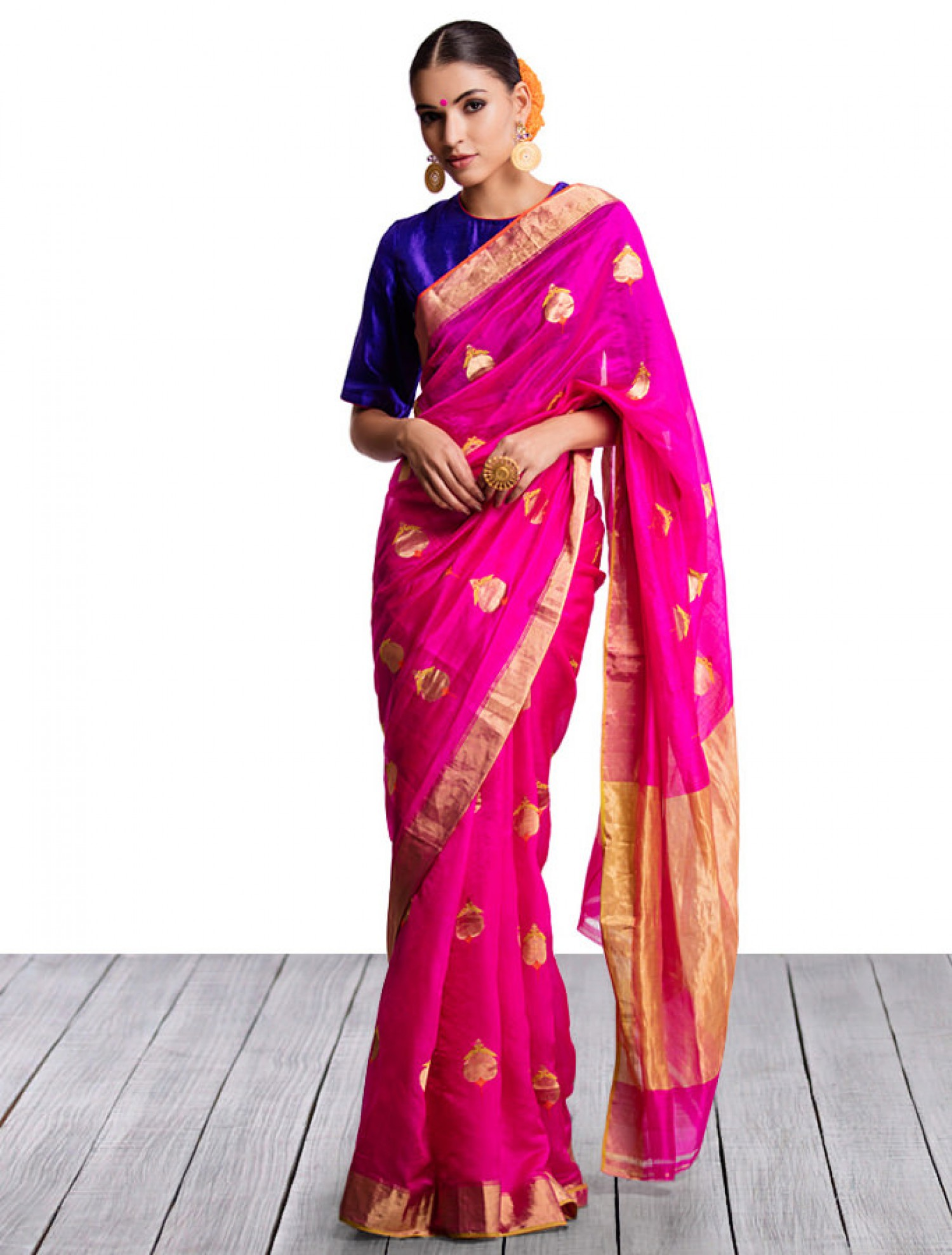 Saree clipart fashion modeling Blue blouse Indian dark Pink