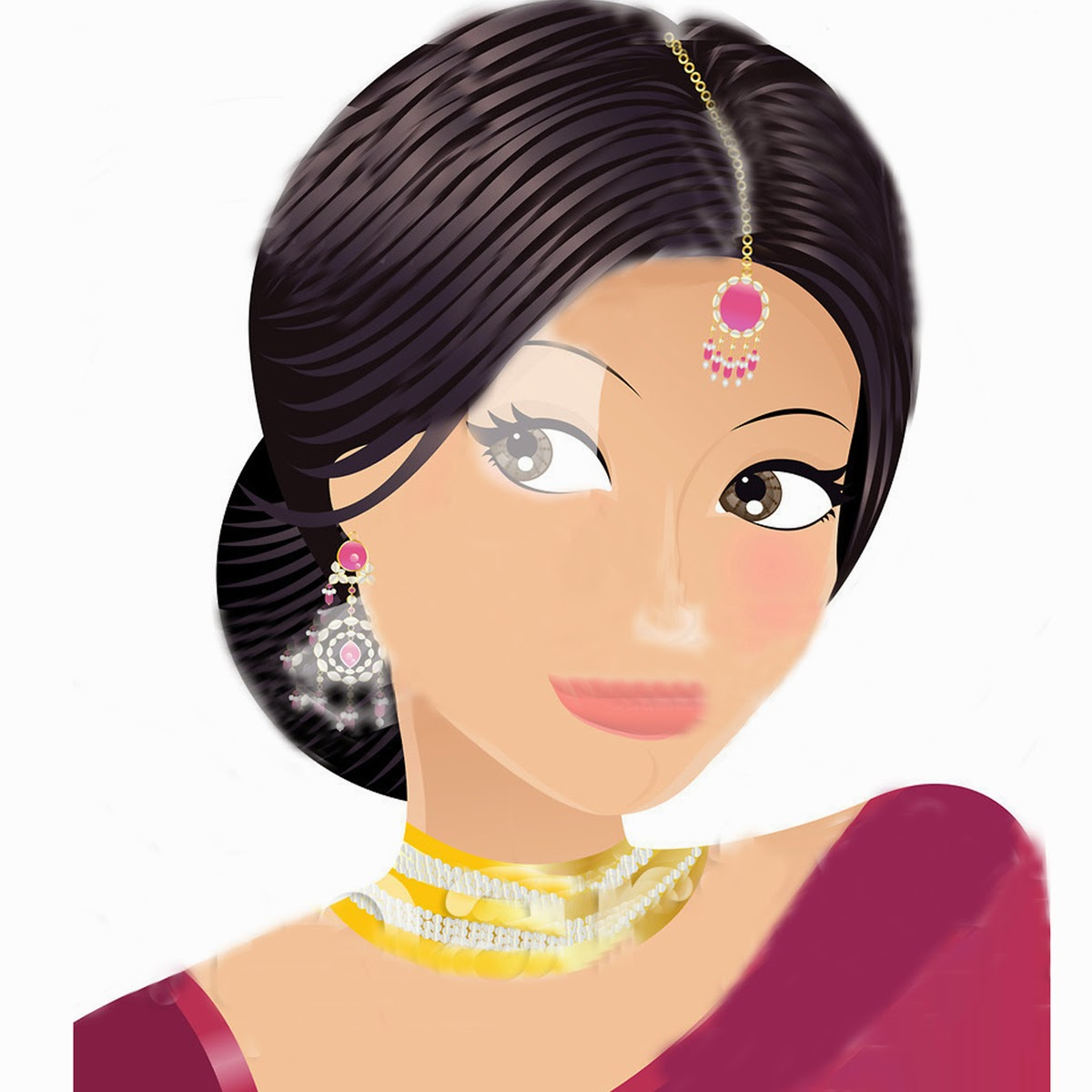 Bride clipart traditional indian woman #11