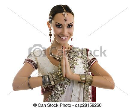 Saree clipart namaste Woman Traditional Sari  Woman