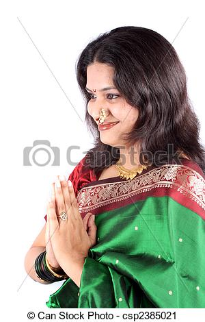 Saree clipart namaste The Welcome Stock beautiful Photography