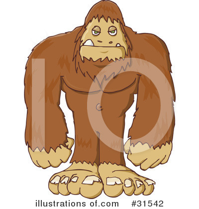 Sasquatch clipart Illustration by PlatyPlus Clipart Free