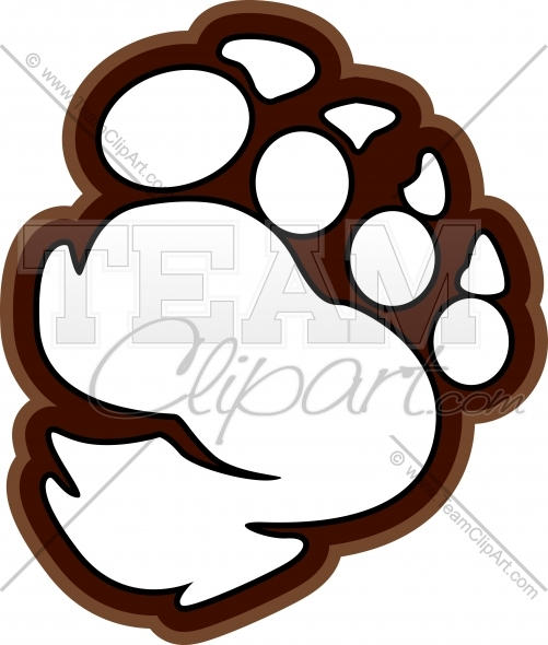 Footprint clipart yeti Image or com Paw Clipart