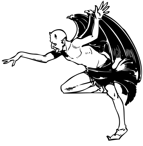 Satanic clipart black and white Clipart Satan and Free Halloween
