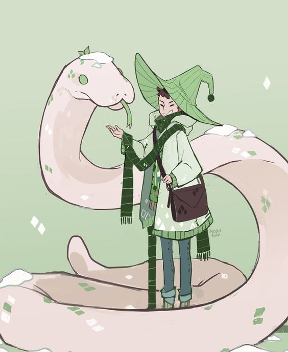 Satan clipart green snake Snake  for snow/snake/mint witchsona