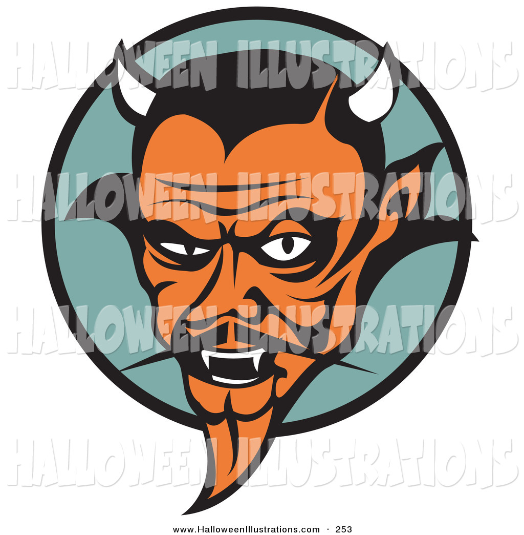 Satan clipart mean Male Halloween Fangs Old Royalty
