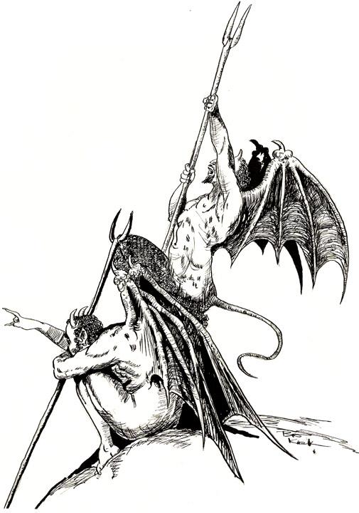 Satanism clipart demon Art Free Demons Images Royalty