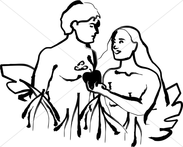Adam And Eve clipart Adam And Eve In The Garden Of Eden Clipart Clipart and Eve of Creation