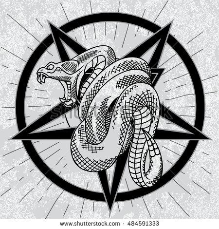 Satan clipart angry snake Satanic viper Hand  background
