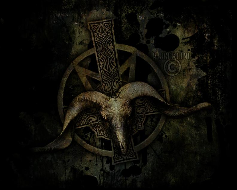 Satanic clipart goat head #4