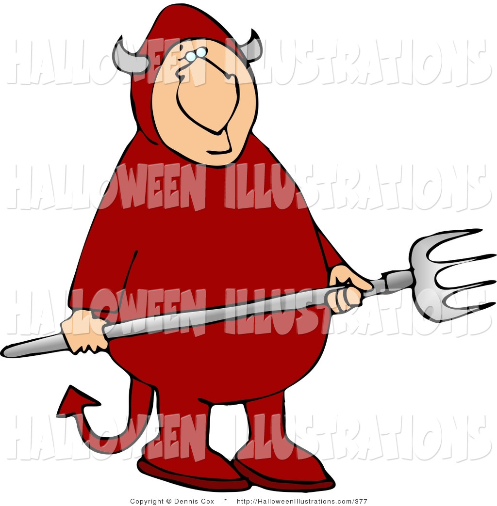 Satanic clipart pitchfork A Costume Royalty Halloween Red
