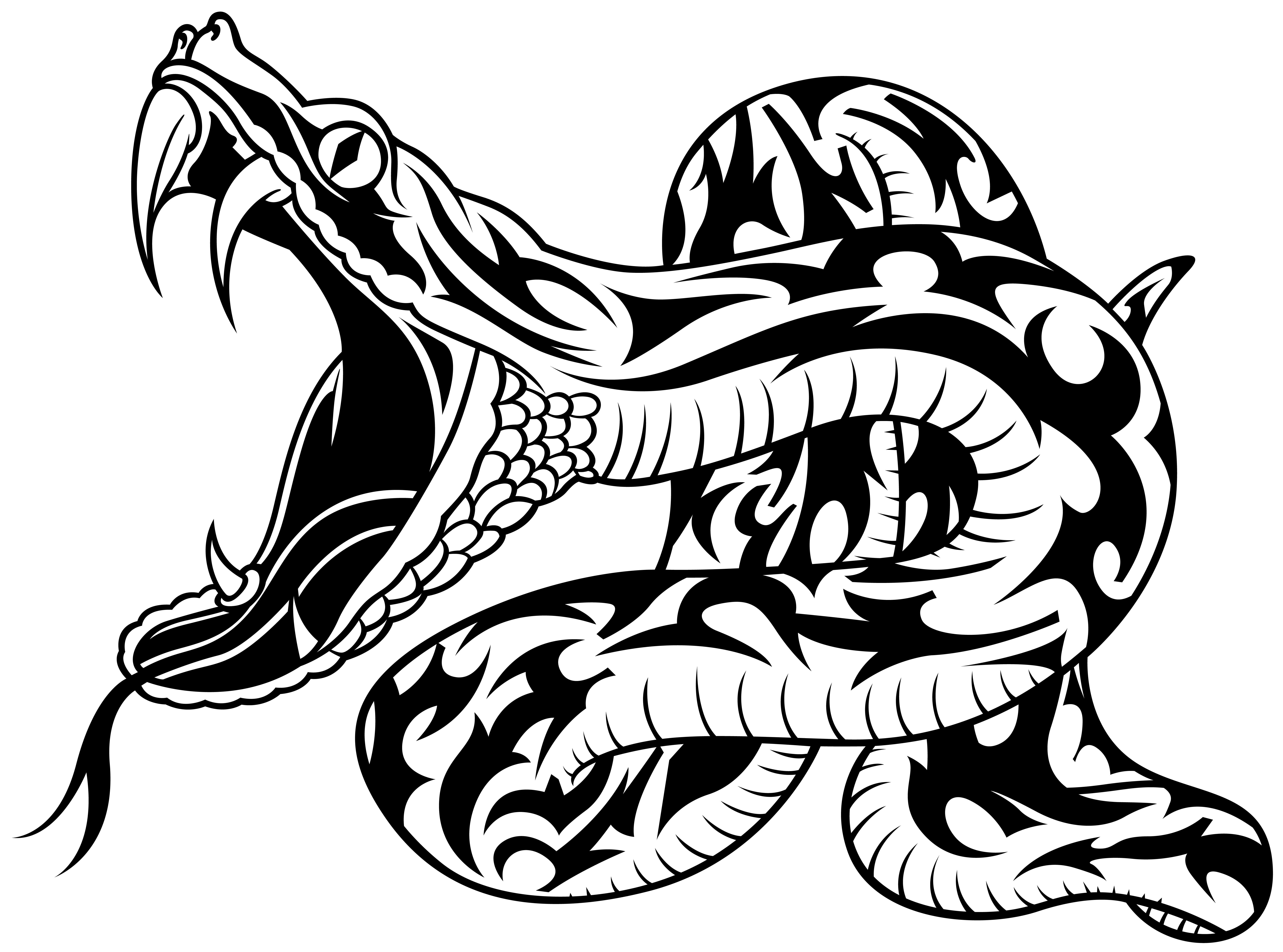 Rattlesnake clipart tribal #4