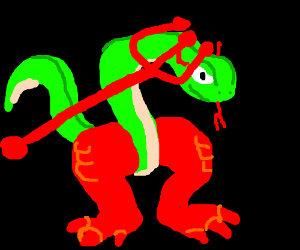 Satanic clipart small snake Is legs by with Stef8429)