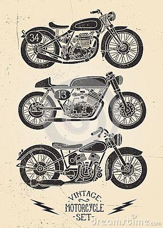 Satanism clipart vintage motorcycle Motorcycle Dreamstime Dreamstime Krookedeye Vintage
