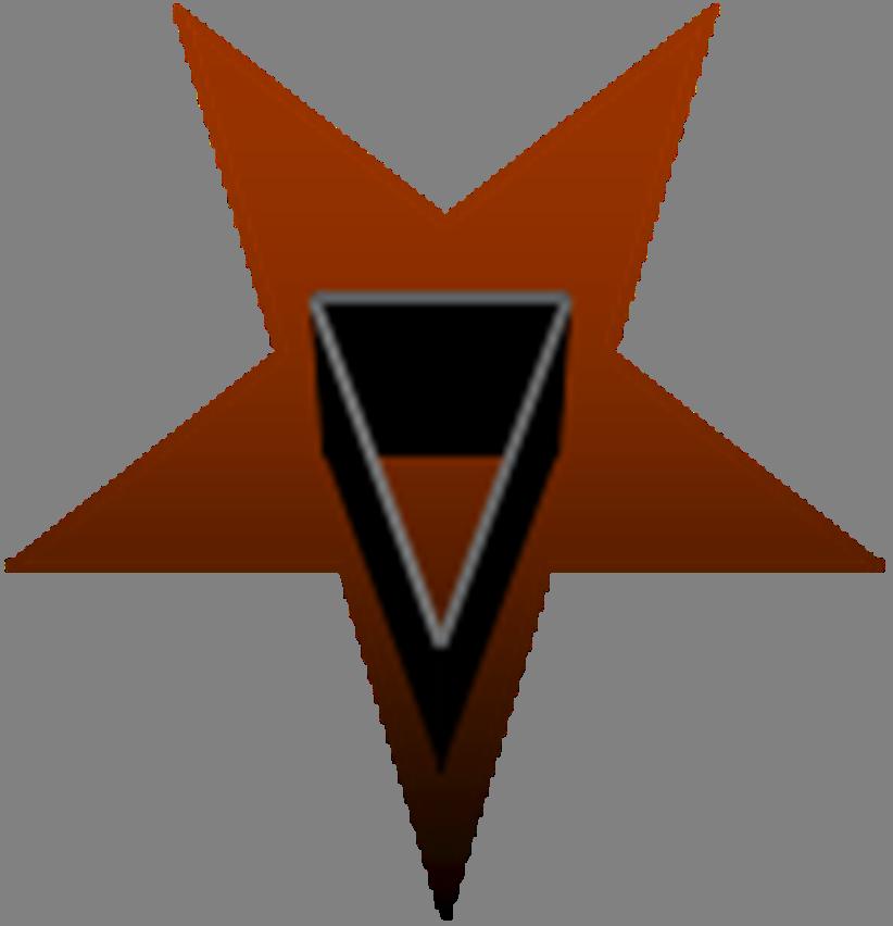 Satanism clipart Satan pentagram of brotherhood inverted