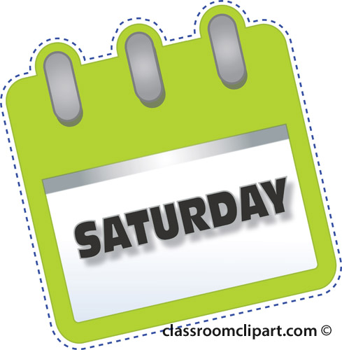 Saturday clipart #10