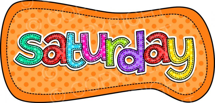 Saturday clipart #14