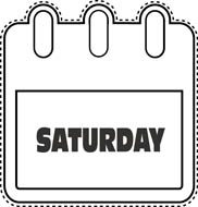 Saturday clipart #5