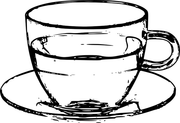 Coffee clipart cup saucer Vector) vector Teacup cup