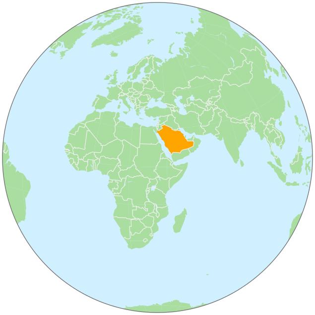Saudi Arabia clipart Globe On Download Art Saudi