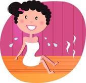 Sauna clipart Art Woman Clip GoGraph Royalty